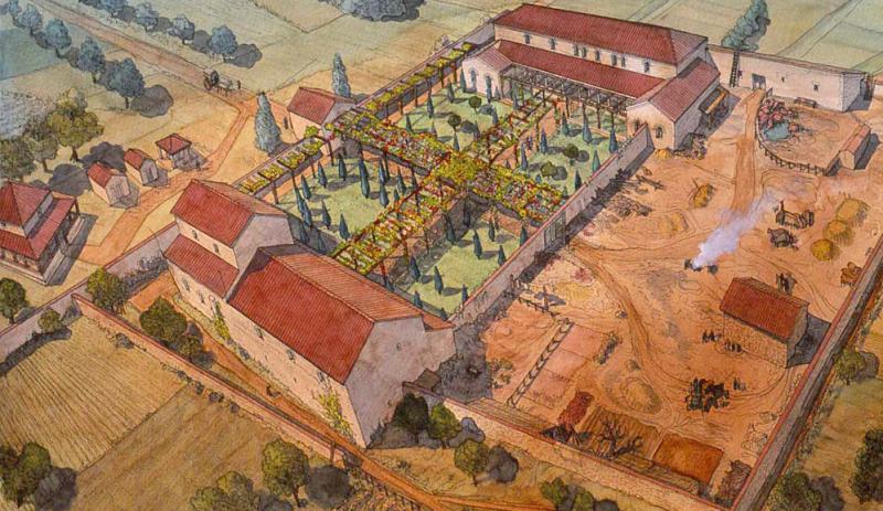 L 39 habitat durant l 39 antiquit - La villa romaine antique ...
